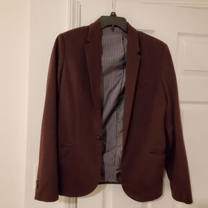Zara maroon blazer sport coat